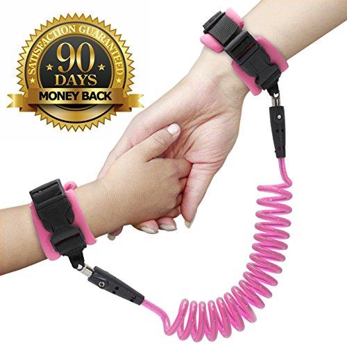 Anti Lost Wrist Link - Wrist Leash for Kids & Toddlers - Child Safety Wristband (Child Leash Wrist)