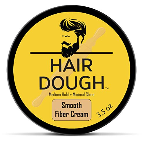 Hair Dough Mens Hair Style Smooth Fiber Cream 3.5 oz for Men with Medium Hold and Minimal Shine Hydrating Pliable Hair Care Fiber Cream To Improve Texture and Thickness For All Hair Types (Best Mens Hair Styling Cream)