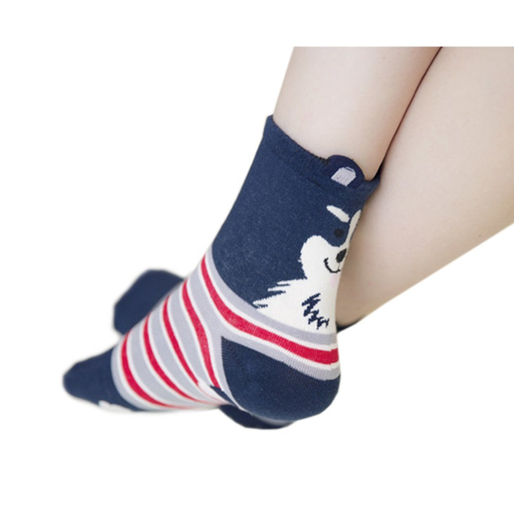 Women\'s Cute Dog Printed Cotton Crew Socks, Mix Color - 10 Pack, US Women\'s Shoe Size 5-9