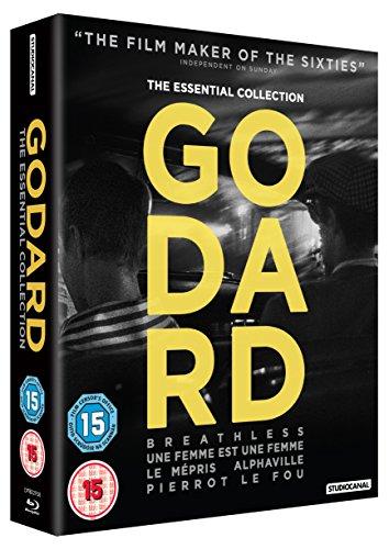Jean-Luc Godard Collection - 5-Disc Box Set ( À bout de soufflé / Une femme est une femme / Le mépris / Alphaville, une étrange aventure de L [ NON-USA FORMAT, Blu-Ray, Reg.B Import - United Kingdom ]