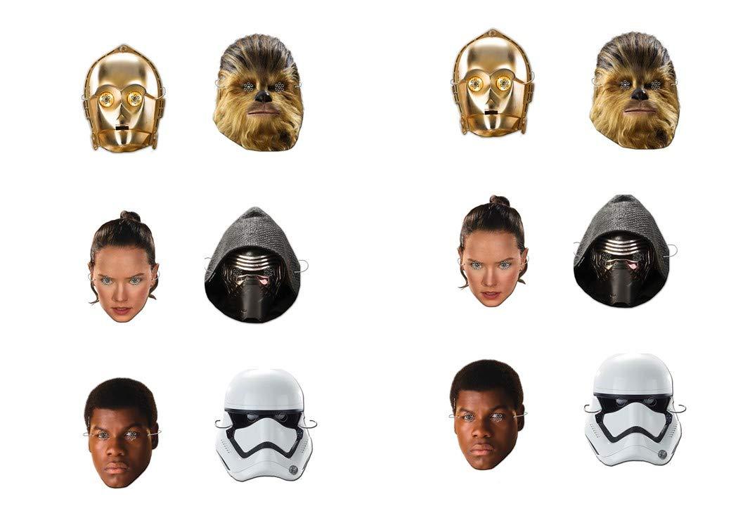ALMACENESADAN 0549, Pack 12 caretas Disney Star Wars ...