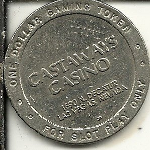 Token Vintage Coin - $1 castaways vintage casino token coin las vegas nevada obsolete