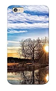 Awesome Design Wisconsin Sunset Landscape Autumn Fog Reflection Sunrise Hard Case Cover For Iphone 6(gift For Lovers)