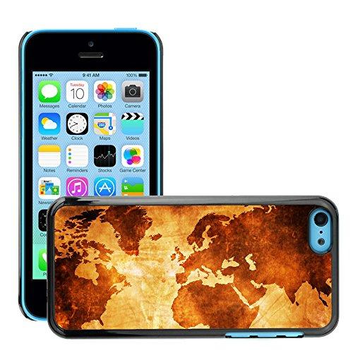 Premio Sottile Slim Cassa Custodia Case Cover Shell // V00001985 monde Carte de la // Apple iPhone 5C
