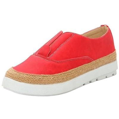KemeKiss Women Casual Slip On Platform Shoes with Elastic