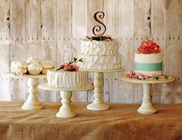 Amazon.com: Vintage Style Pedestal Cake Stands - Set of Three ...
