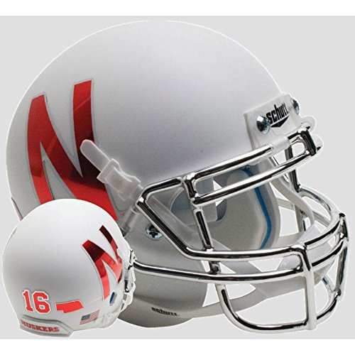 (Nebraska Cornhuskers Silver Mask Officially Licensed Full Size XP Replica Football Helmet)