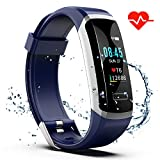 Akuti Fitness Tracker HR, Fitness Watch with Heart Rate Monitor, Activity Tracker, Sleep Monitor, Step Counter Calories Watch, IPX7 Waterproof Smart Wristband Pedometer