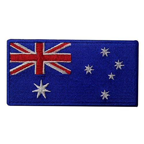 Costumes Supplies Australia (Australia Flag Embroidered Patch Australian Iron On Sew On National Emblem)
