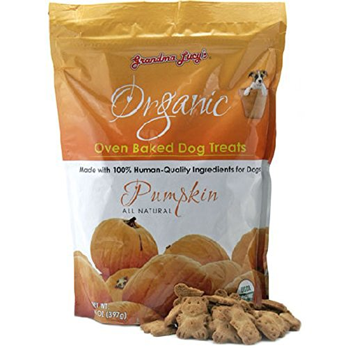 GRANDMA LUCY'S Organic Baked Pumpkin Treat for Dogs, 14-Ounce [2-Pack] by Grandma Lucy's