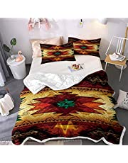 Indians Indigenous Dreamcatcher Printed Bedspread Quilt Set - Quilt and 2 Quilted Pillowcases, All Season Breathable Bedspread Coverlet Bedding Set/Healthy/Soft/Durable