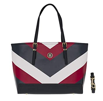 Tommy Hilfiger Honey Medium Tote Print Corporate Chevron