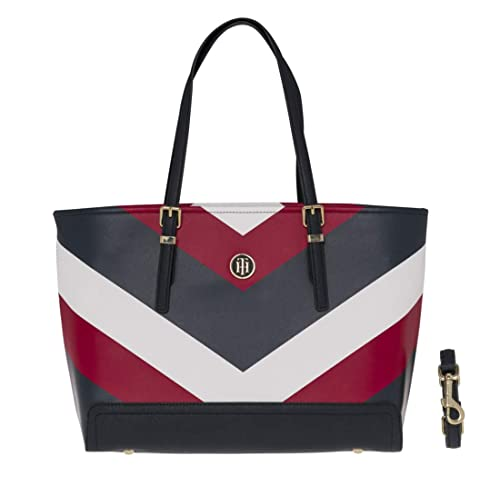 TOMMY HILFIGER Honey Medium Tote Print Corporate Chevron  Amazon.co.uk   Shoes   Bags 85d56e8985406