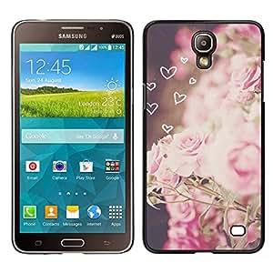 LECELL--Funda protectora / Cubierta / Piel For Samsung Galaxy Mega 2 -- corazones amor floral rosado viñeta primavera --
