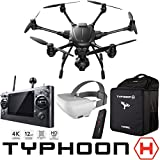 Yuneec Typhoon H RTF Hexacopter Drone Collision Avoidance Sky Command Bundle with CGO3+ 4K UHD Camera ST16 Controller Wizard Wand SkyView FPV Headset and Backpack