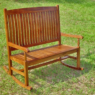 International Caravan VF-4125-IC Furniture Piece Traditional Double Porch Rocker