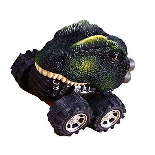 LTDD Dinosaur Model Car Toys Pull Back Children Kids Cool Toys Gift (Dilophosaurus)