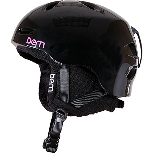 Bern Berkeley Gloss Helmet with Black Knit (Black, - Helmet Berkeley Knit