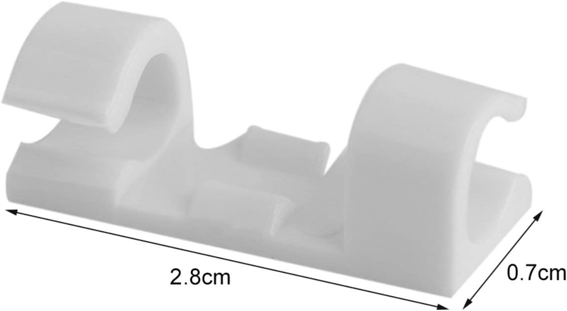 Fil de fixation Pince Pince de bureau fil Clear Up Clips Porte serre-c/âbles Dispositif Clip Organizer Holder Clips de cordon
