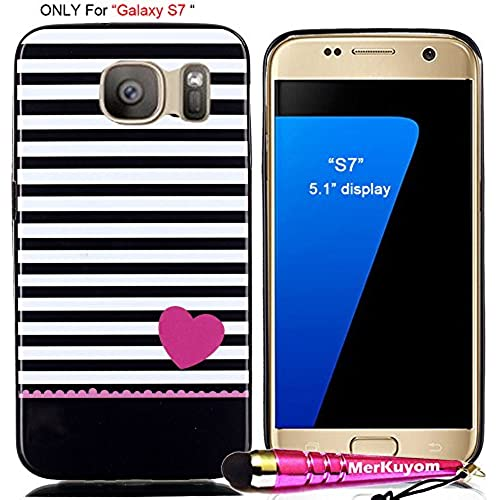 Fit [Galaxy S7], Galaxy S7 Case, MerKuyom Pack- [Slim-fit] [Flexible Gel ] Durable Soft TPU Case Skin Rubber Cover For Samsung Galaxy S7 5.1 Display Sales