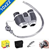 BNISE 10X22 Binoculars for Adults and Ki...