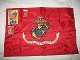 Embroidered Sewn 2X3 Ft Usmc Marine Corps Flag Solarmax Nylon Flag Double Sided