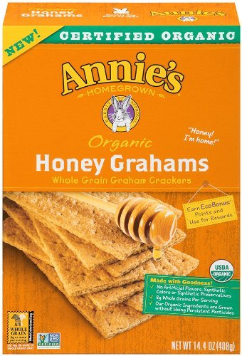 Annies Homegrown Organic Honey Graham Cracker, 14.4 Ounce - 12 per case