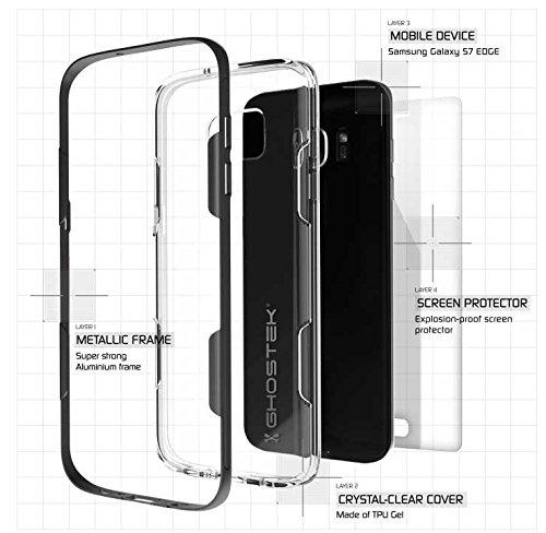 """Ghostek GHOCAS375 Schutzhülle """"Cloak Series"""" für Samsung Galaxy S7 Edge Slim schwarz"""