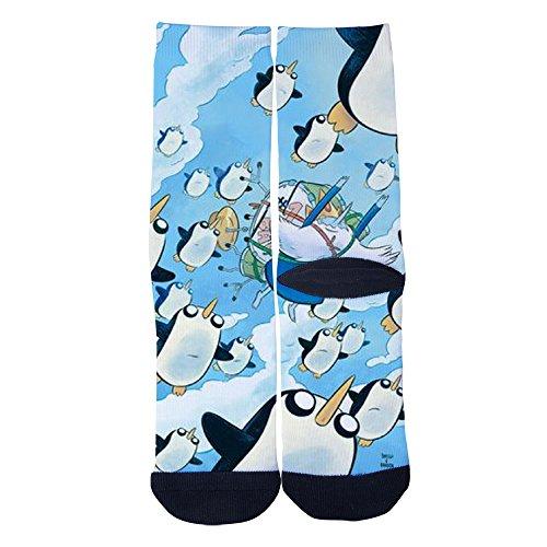 (Mens Womens Adventure Time Ice King Socks Custom Personality Socks Creative Casual Socks Crazy Sport Crew Socks)