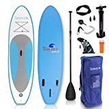 SereneLife Inflatable Stand Up Paddle Board (6 Inches Thick) Universal SUP Wide...