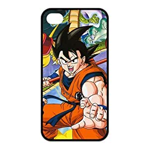 4S Case,Hard iPhone 4s Case,Dragon Ball Design Fashion Pattern Hard Back Cover Snap on For CaseiPhone 4 / 4s (Black/white)