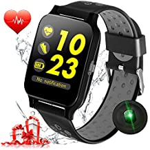 1.5'' Bluetooth Sport Watch Fitness Tracker Men Women Smart Watch Blood Pressure Heart Rate Monitor Run Pedomter Touch Screen Wristband Phone Call & SMS Remind Android iOS