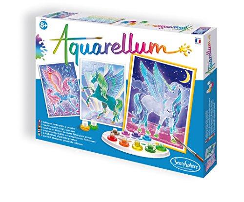 SentoSphere Aquarelle Unicorns Arts and Crafts Watercolor Paint Set