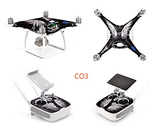 OK-STORE Exclusive Decoration Wrap Skin Decal Kit for Phantom 4 Pro Quadcopter Drone Body Shell, DJI Phantom 4 PRO Portable Collapsible Mini Racing Drone Water-resistant PVC Sticker Review