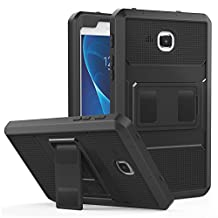 MoKo Samsung Galaxy Tab A 7.0 Case - [Heavy Duty] Full Body Rugged Cover with Built-in Screen Protector for Samsung Galaxy Tab A 7.0 Inch Tablet 2016 Release(SM-T280 / SM-T285), BLACK