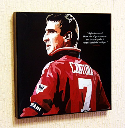 Eric Cantona Manchester United Football Soccer Poster POP ART canvas Quotes wall decals framed