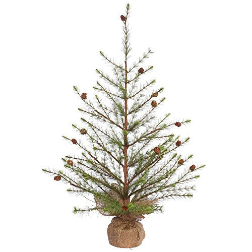 Vickerman E152736 Pine Tree with Cones & 96 Hard Needle T...