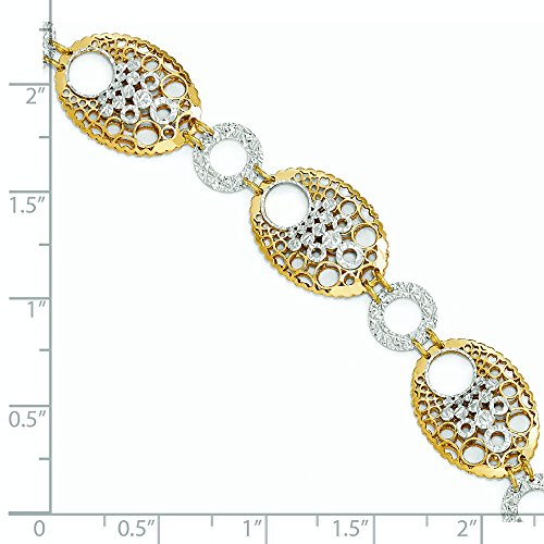 "Bracelet bicolore 14 carats-Fantaisie-JewelryWeb 7 """