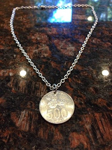 Indonesia 500 rupiah coin necklace