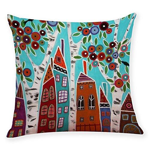 Alimao Cotton Linen Square Home Decorative Throw Pillow Case Sofa Waist Cushion Cover - Panties Cotton Barbie