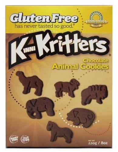 Kinnikinnick Cookie - Chocolate Animal Gluten Free, 8-Ounce (Pack of (Chocolate Cookies Powdered Sugar)