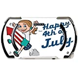 Happy 4th of July Quote Cute Girl on Firework American Flag Image Design Pattern PSP Go Vinyl Decal Sticker Skin by Trendy Accessories