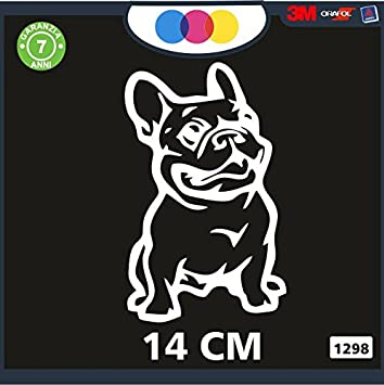 Pegatina para Coche – Bulldog francés Color Nero- Stickers Notebook – Perro, Perros,