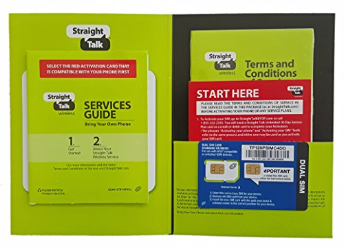 Straight Talk ST64PSIMC4BMB Sim Card (Micro Size) and Activation Instructions Card for AT&T & Unlocked GSM Phones (Sold by Peaceful Products) (4s Card Sim Sprint)