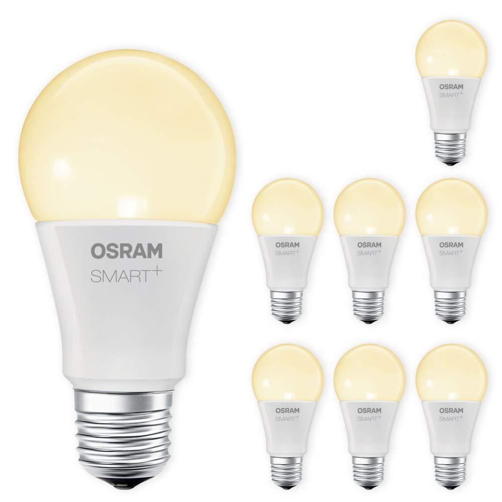 OSRAM SMART+ LED E27 Lampe 2700K warmweiß dimmbar Lightify kompatibel Echo Alexa kompatibel Lightify Auswahl 8er Set b51cc8