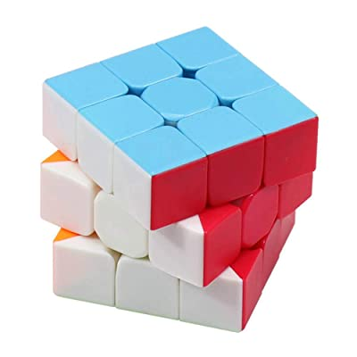 Wanrun 3x3 Speed Cube Stickerless Magic Cube 3x3x3 Puzzle Cube Vivid Solid Color Durable Brain Teaser Toys Enhanced Version(56mm): Toys & Games