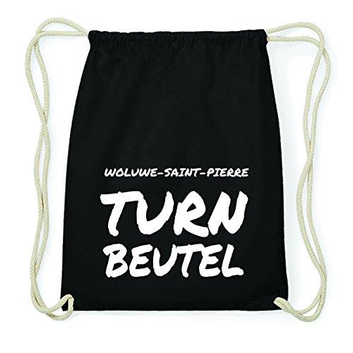 JOllify WOLUWE-SAINT-PIERRE Hipster Turnbeutel Tasche Rucksack aus Baumwolle - Farbe: schwarz Design: Turnbeutel 3QvVV
