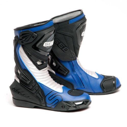 SEDICI Ultimo Leather Motorcycle Boots - 9, Blue