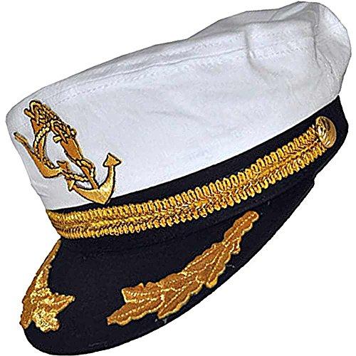 Sea Ship Captain Cap - One Size