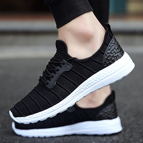 Flops Lace Couple up Shoes Summer Thongs Espadrilles Trainers Outdoor Walking Running Mesh Women Flip Shoes Wedge VEMOW Men Black Beathable Sports Flats Sneakers Shoes Travel qHxggRw8